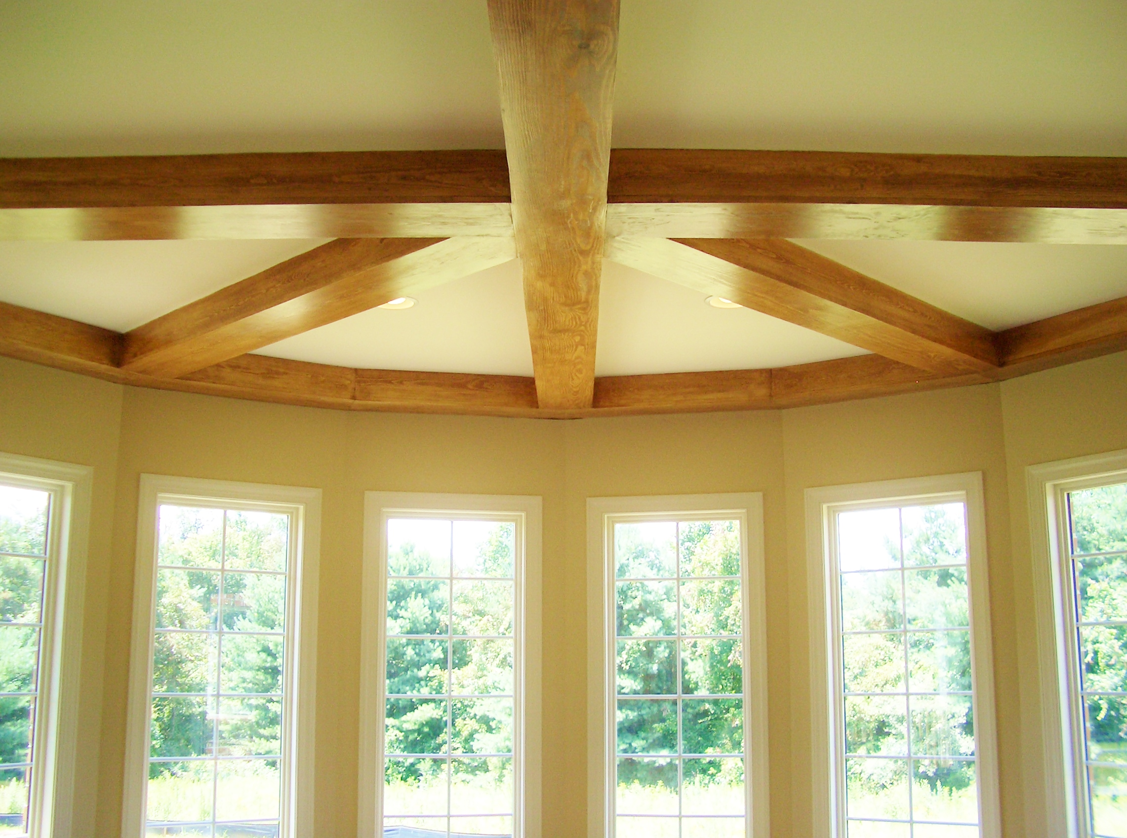 Custom Ceiling with Exposed Beams