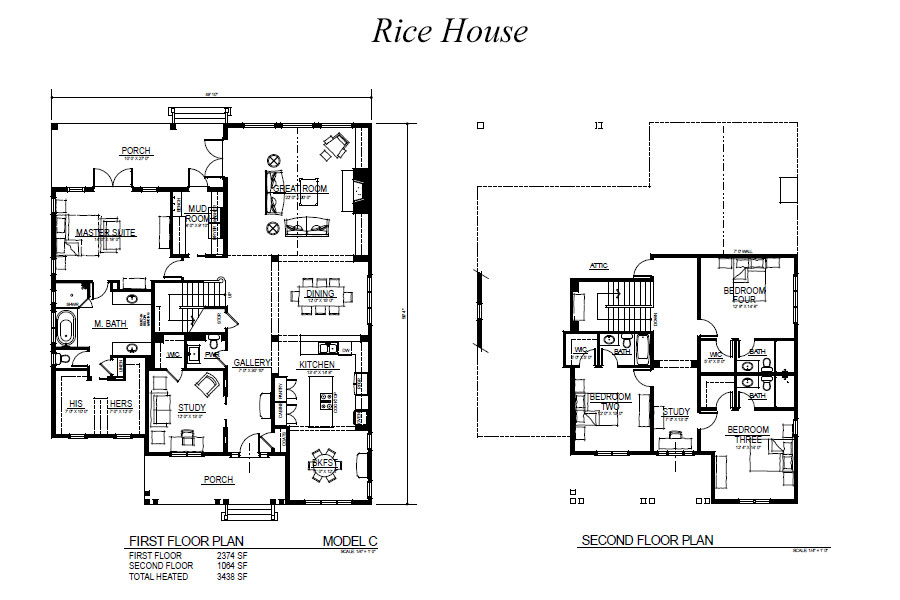 Rice House Floorplan